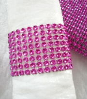 rhinestone napkin rings, bracelets, cuffs, pink fuchsia, fushia, green, lime, apple, diamond, bling ring, purple, teal, peacock, turquoise, red, gold, silver, champagne, chair covers, rentals, wedding