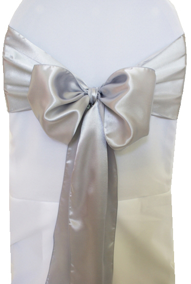 Chair Cover Tie Sash Satin Spandex Stretch Band