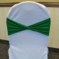 Wrinkle Free Chair Cover Band Sash Tie Ruched Rouched, Rouged Wrap